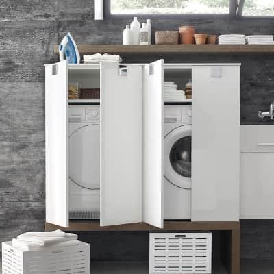 Mobile lavanderia bianco L 70 x P 62 x H 125 cm