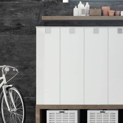Mobile lavanderia bianco L 50 x P 37 x H 125 cm