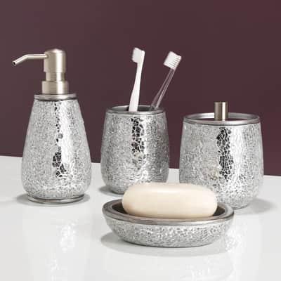 Dispenser sapone Glam argento