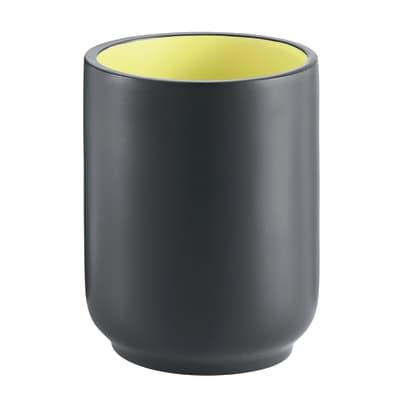 Bicchiere porta spazzolini Basic in resina grigio