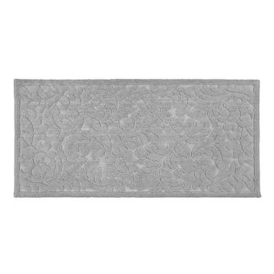 Tappeto bagno Dea in cotone grigio 110 x 53 cm