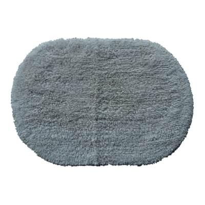 Tappeto bagno Oval new in cotone beige 60 x 40 cm