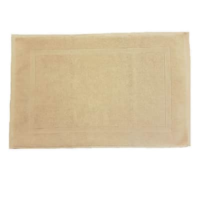 Tappeto bagno Eponge in cotone beige 80 x 50 cm