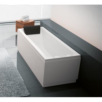 Vasca e pannello piatto Amea 160 x 70 cm bianco