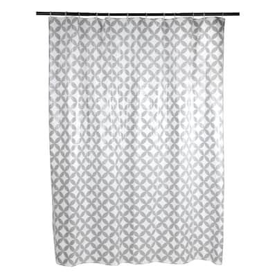 Tenda doccia Corolle in vinile grigio L 240 x H 200 cm