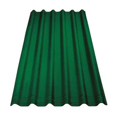 Lastra ondulata ONDULINE Easyfix in bitume 81 x 200 cm, Sp 2.6 mm verde