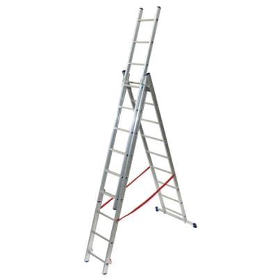Scala a sfilo FACAL Stilo 3 rampe in alluminio 3x9 gradini per lavori fino a 6.8 m