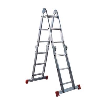 Scala snodata multifunzione FACAL Hobby Sei in alluminio per lavori fino a 4.6 m
