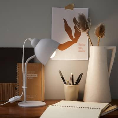 Lampada da scrivania Moderno Leo grigio , in metallo, INSPIRE
