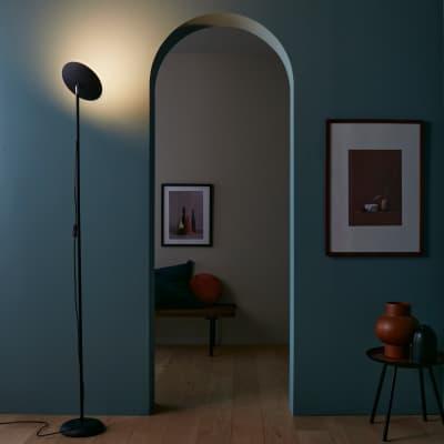 Lampada da terra Launi nero, in metallo, H178cm LED integrato INSPIRE