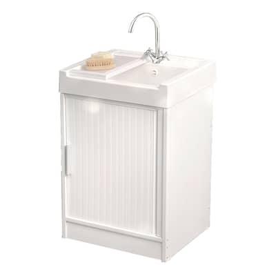 Mobile lavanderia Ice bianco L 59.2 x P 52.5 x H 84 cm
