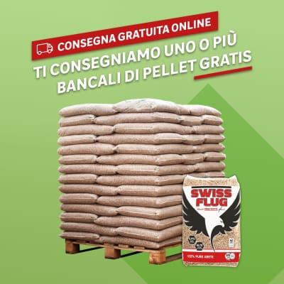 Pellet Swiss flug ENplus A1 65 sacchi da 15 kg in abete