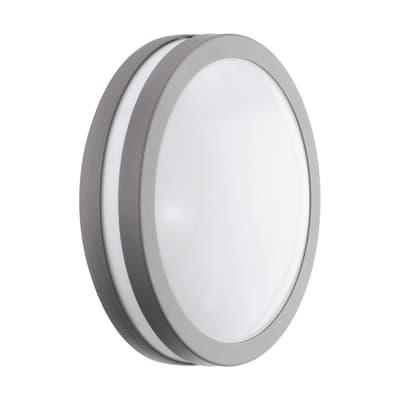 Plafoniera Locana C LED integrato in acciaio galvanizzato, grigio, 14W 1400LM IP44 EGLO