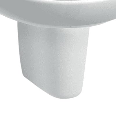 Semicolonna selnova pro H 32 cm in ceramica bianco