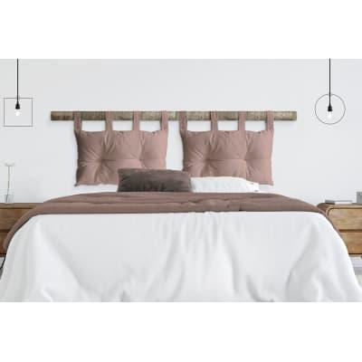 Cuscino testata letto PANAMA COTONE rosa 45x70 cm