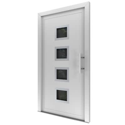 Portoncino d'ingresso Medium bianco L 90 x H 210 cm sinistra