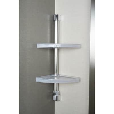 Angolare parete e angolo e box doccia Twinny inox lucido / trasparente