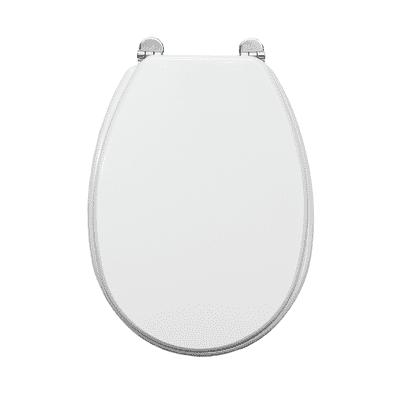 Copriwater ovale Universale Piemonte mdf bianco
