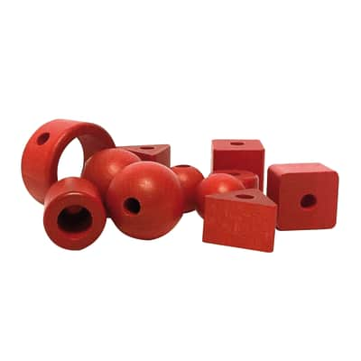 Perline in legno rosso 11 pezzi prezzi e offerte online for Perline legno leroy merlin