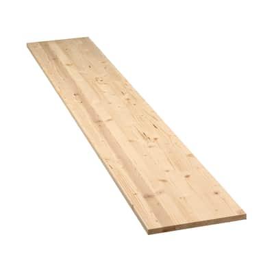 Tavola legno lamellare abete 200 x 30 cm Sp 18 mm