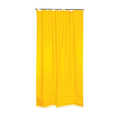 Tenda da sole ad anelli 150 x 250 cm giallo