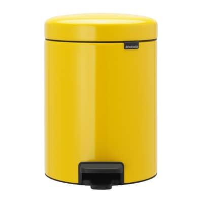 Pattumiera da bagno a pedale newicon BRABANTIA giallo 5 Lin acciaio