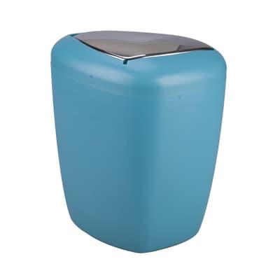 Pattumiera da bagno manuale stone blu 6 Lin plastica