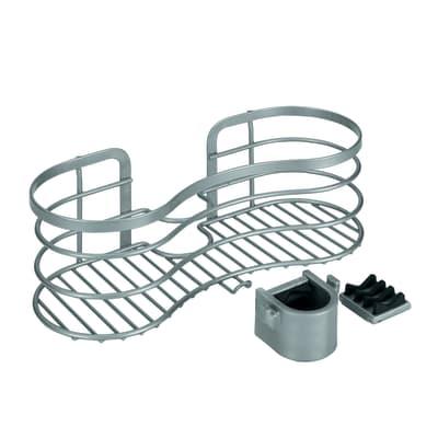 Vassoio Cestello tubo 1 ripiano grigio