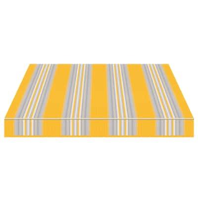 Tenda da sole a bracci estensibili manuale TEMPOTEST PARA' L 2.4 x H 2 m Cod. 636/12 avorio, azzurro, giallo