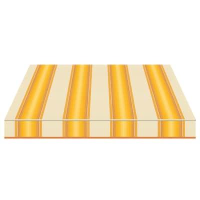 Tenda da sole a bracci estensibili manuale TEMPOTEST PARA' L 3.5 x H 2 m Cod. 771/12 giallo, avorio, marrone