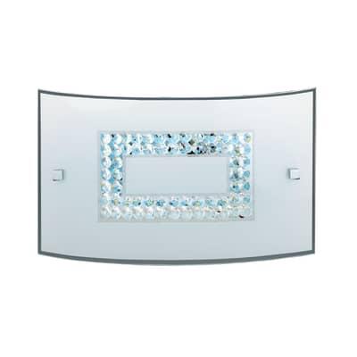 Applique Cristal2 multicolor, in vetro, 20x32 cm, LED integrato 15W