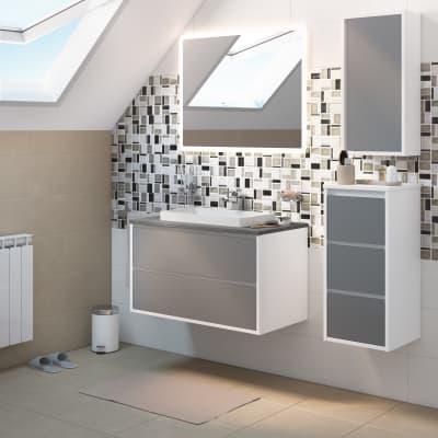 Mobile bagno Loto bianco L 90 cm