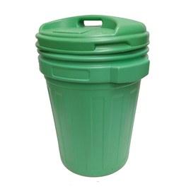 Bidone Richiudibile verde satinato 70 L