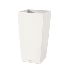 Vaso Cubico Color Lechuza 30 x 30 cm bianco