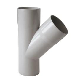 Braga pluviale in plastica Ø 63 mm, 45°