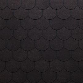 Tegole canadesi coda di castoro Bardoline Pro nero in bitume 100 x 34  cm, spessore 3,4 mm