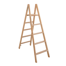 Scala doppia Legno Facal 5 gradini, per lavori fino a 2,7 m