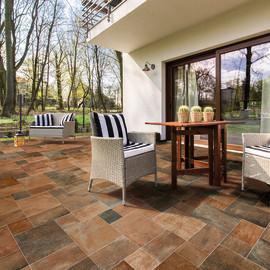 Pavimenti in gres porcellanato effetto pietra per esterni for Leroy merlin pavimenti gres effetto legno