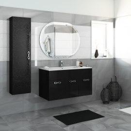 Mobile bagno Miami nero L 100 cm