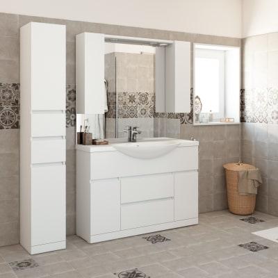 Mobile bagno elise bianco l 120 cm prezzi e offerte online for Leroy merlin lavatoio con mobile