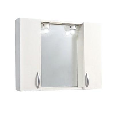 Armadietto a specchio sole l 77 x h 57 x p 15 cm bianco lucido prezzi e offerte online leroy - Specchio contenitore bagno leroy merlin ...