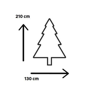 Albero di Natale artificiale Super Snow King 210 cm H 210 cm