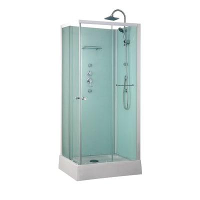 Cabina idromassaggio dina 90 x 70 cm prezzi e offerte for Leroy merlin cabina doccia
