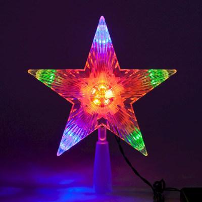 Puntale a stella luminoso 10 minilucciole Led multicolore L 18 x P 18 x H 21 cm
