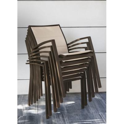 Sedia impilabile Lamas marrone