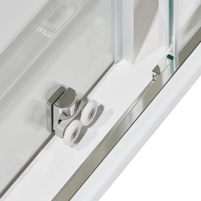 Box doccia scorrevole Dado 77.5-79 x 77,5-79, H 185 cm cristallo 5 mm trasparente/silver