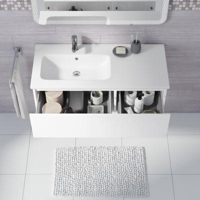 Mobile bagno Avril bianco L 100 cm