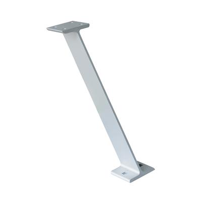 Supporto piano snack alluminio grigio cromato L 4,9 cm