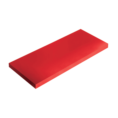 Mensola Spaceo rosso L 56 x P 15,5, sp 1,8 cm
