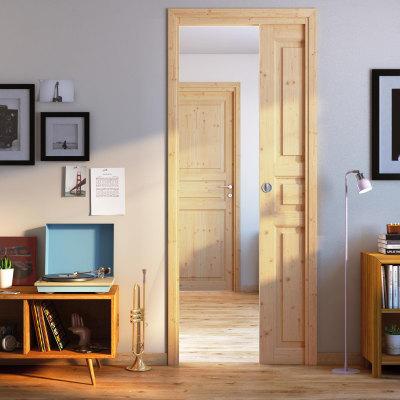 Porta da interno scorrevole Beethoven grezza 70 x H 210 cm reversibile